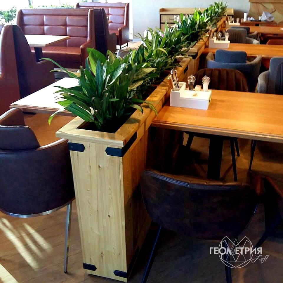 Мебель для ресторанов и кафе в стиле лофт