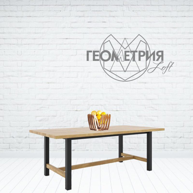 Семейный обеденный стол лофт