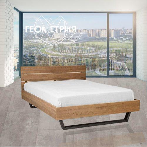 Кровать в стиле лофт на металлическом каркасе