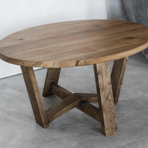 Обеденный круглый стол из дуба