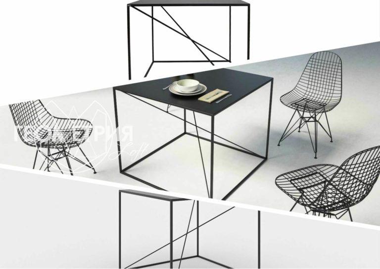 Стол лофт в минималистичном стиле
