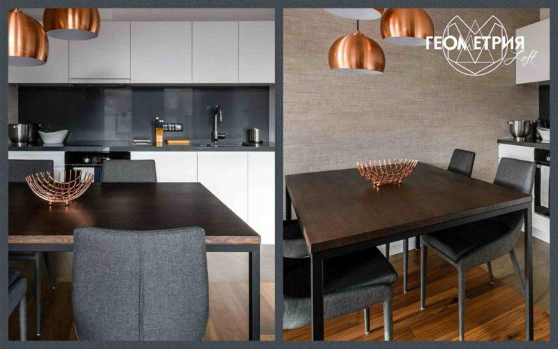 Стол лофт для кухни и столовой