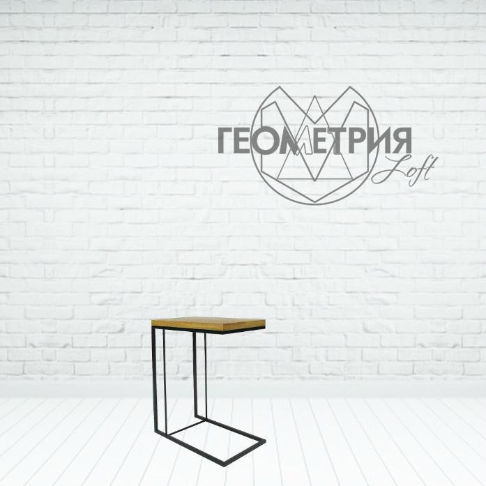 Столик кофейный прикроватный в стиле лофт