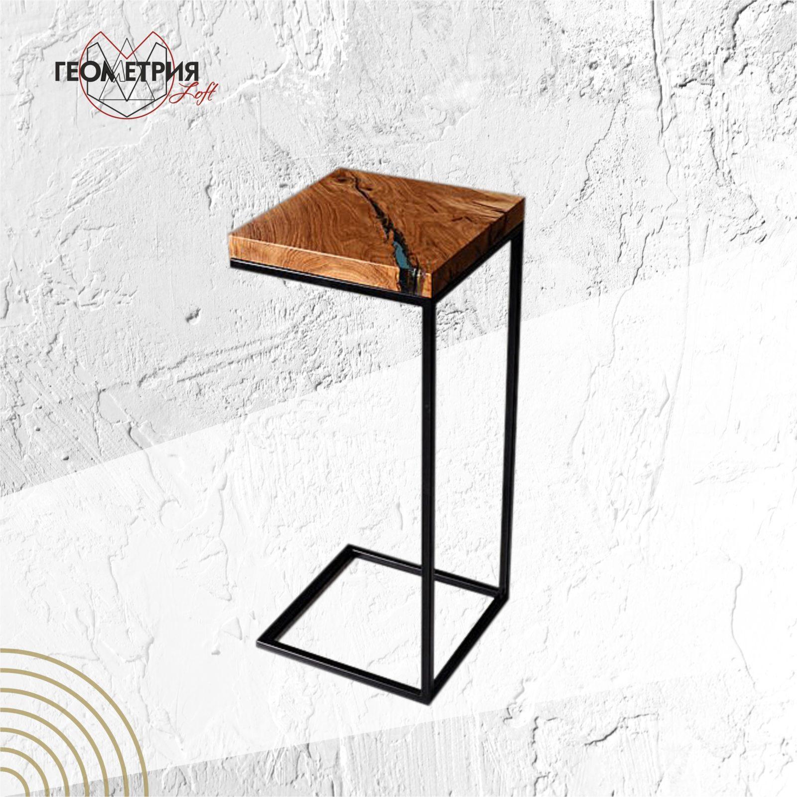 Кофейный столик из дуба в стиле лофт