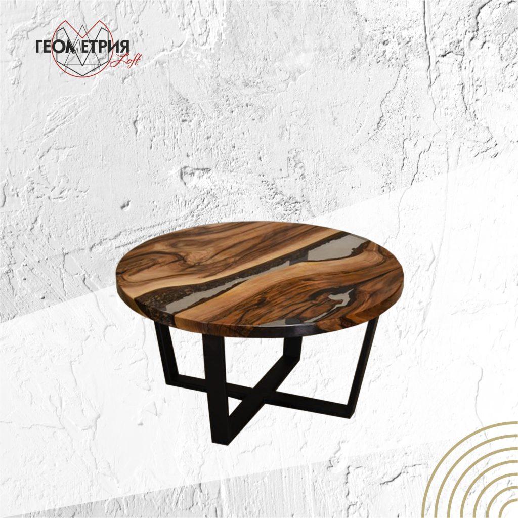 Кофейный Столик лофт из слэба