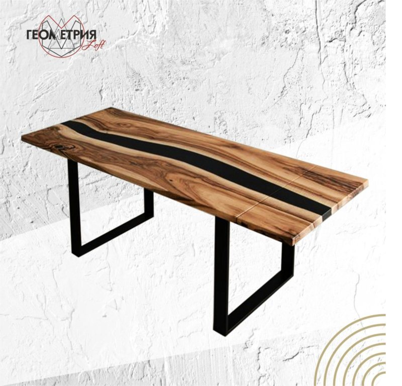Раскладной стол с черной рекой. Артикул sr-4 1