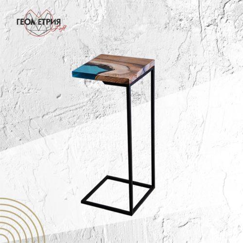 Кофейный прикроватный столик лофт