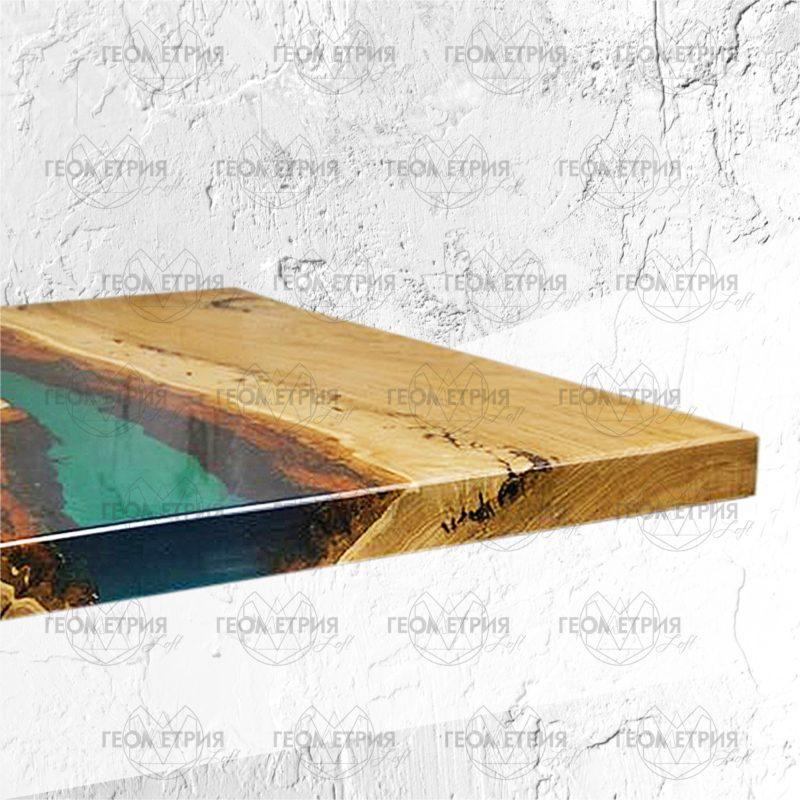 Журнальный квадратный столик со смолой. Артикул zr- 3 2