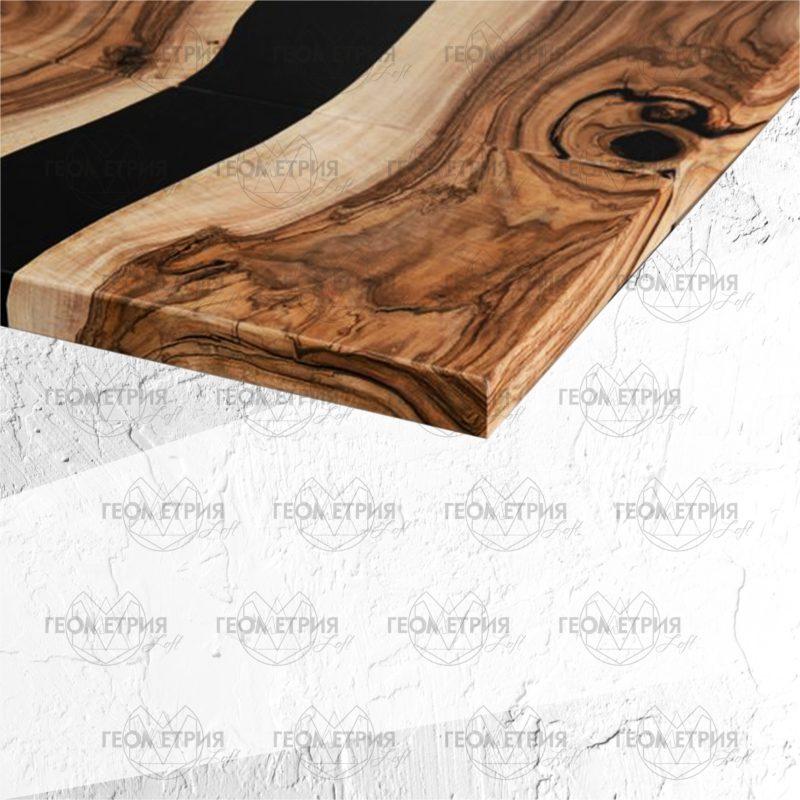 Раскладной стол с черной рекой. Артикул sr-4 2