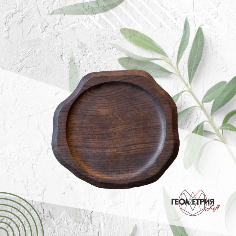 Деревянная тарелка для подачи. Артикул rw-8 1