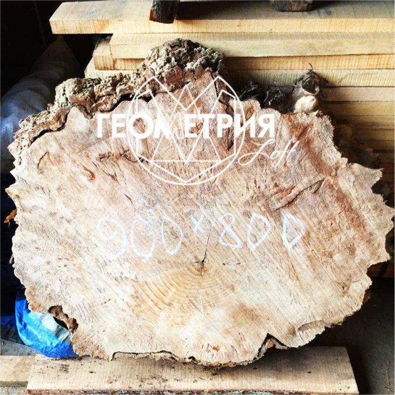 Журнальный столик из спила дерева. Артикул zr-1 6
