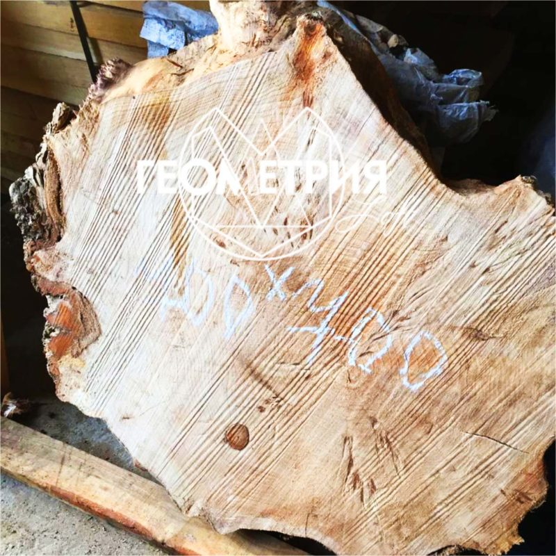 Журнальный столик из спила дерева. Артикул zr-1 5