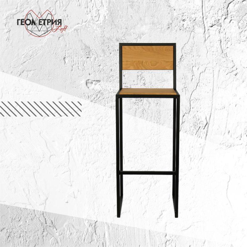 Барный стул из металла и дерева. Артикул bs-4 1