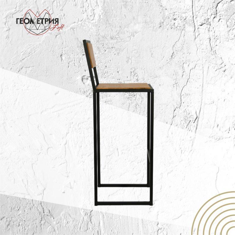 Барный стул из металла и дерева. Артикул bs-4 2