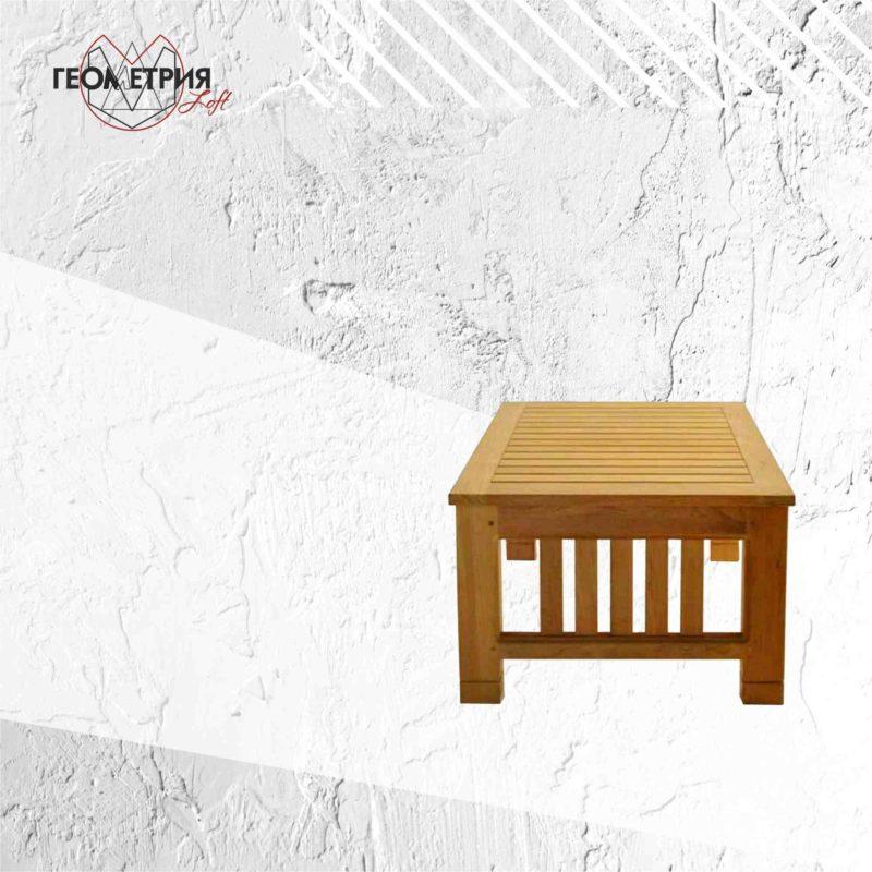 Журнальный столик из натурального дерева. zw-1 2