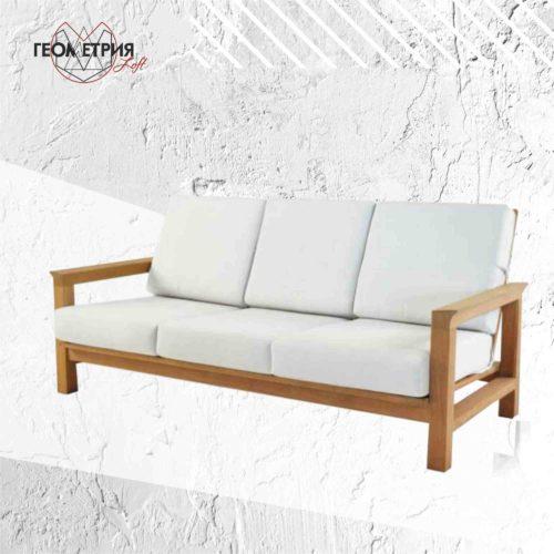 диван из натурального дерева