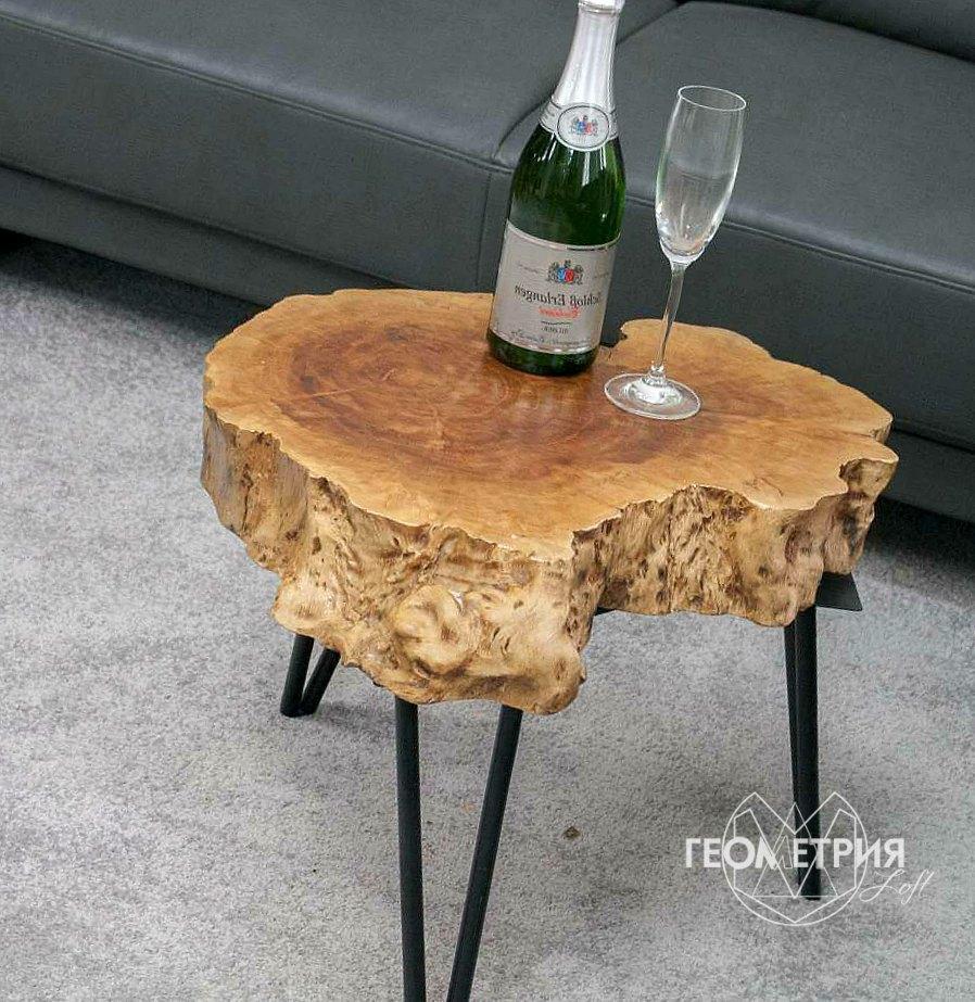 Кофейный столик из спила дерева