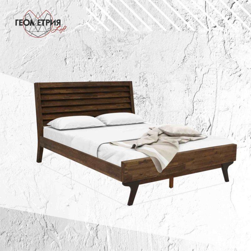 Кровать двуспальная из массива дерева от производителя
