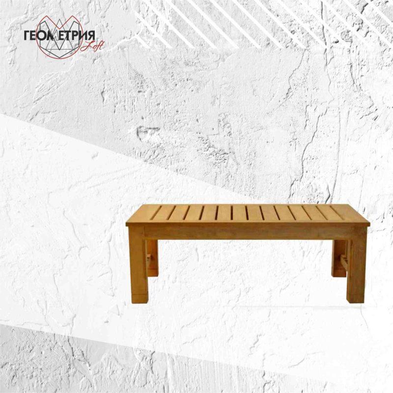 Журнальный столик из натурального дерева. zw-1