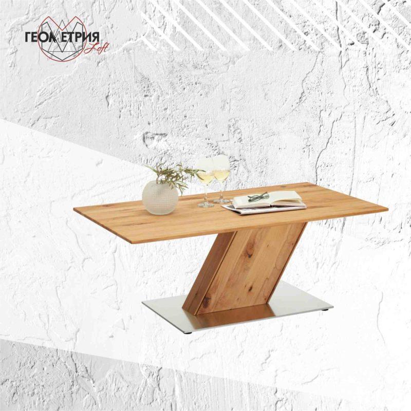Деревянный стол для ресторана в стиле лофт