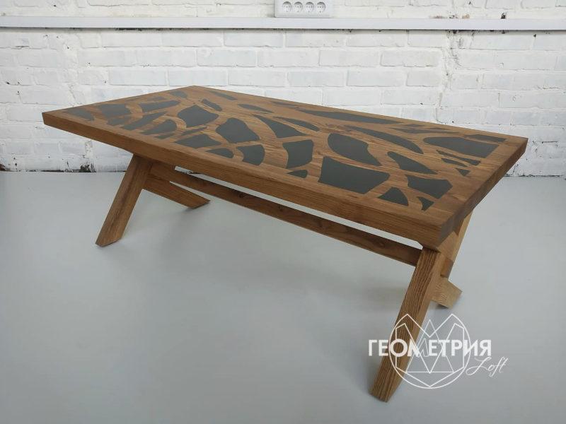 Деревянный кофейный столик. Артикул zs-6 4