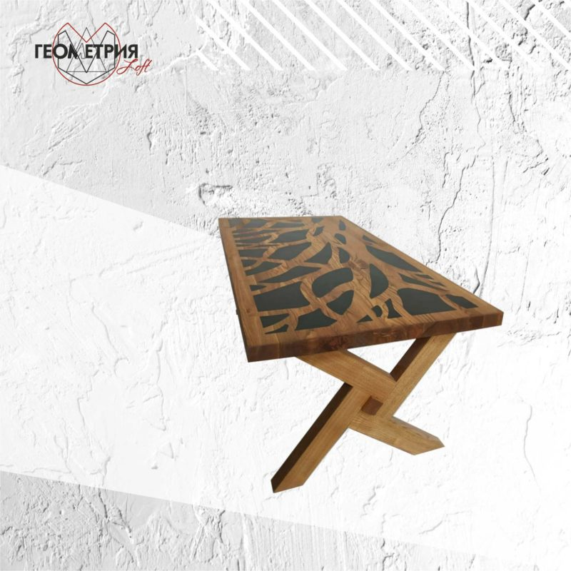 Деревянный кофейный столик. Артикул zs-6 2