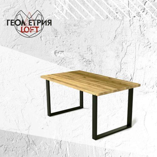 Стол лофт со столешницей из лиственницы