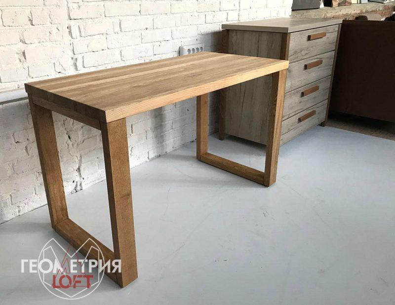 Деревянный стол из ясеня в стиле лофт