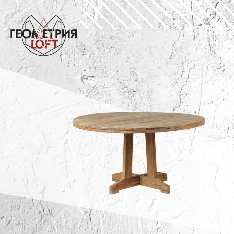 Круглый стол из массива дерева. Артикул rw-7 1