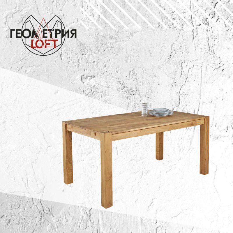 Деревянный стол производства Геометрии Лофт