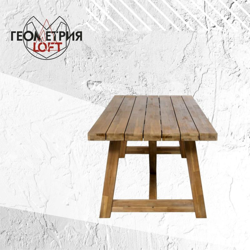 Большой обеденный стол из массива
