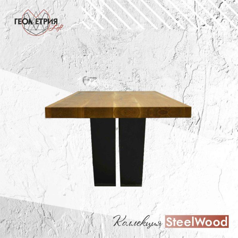 Стол из дерева и металла. Артикул sl-6 2