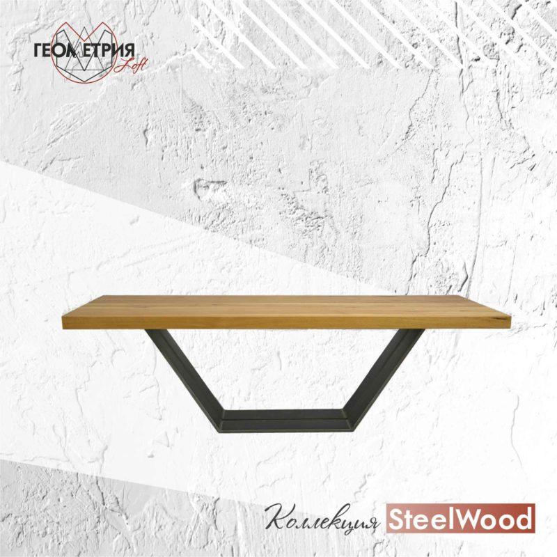 Стол из дерева и металла. Артикул sl-6 1