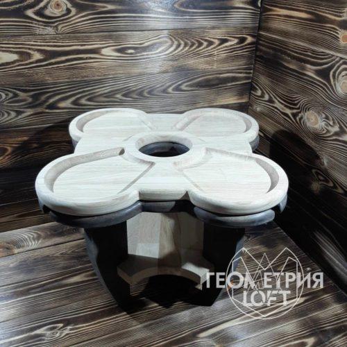 Винный столик из дерева 1