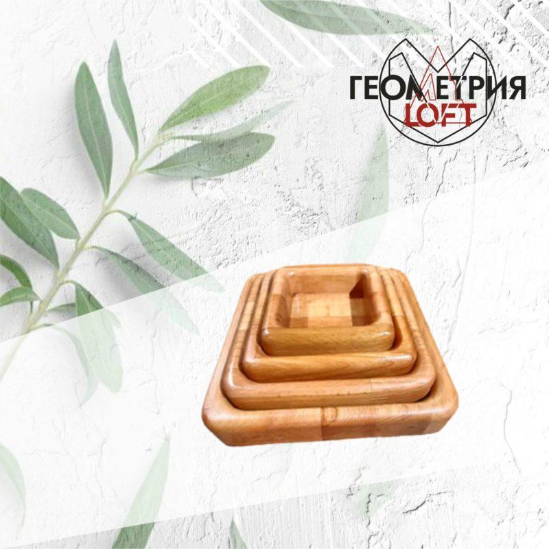 Тарелки-матрешки из натурального дерева