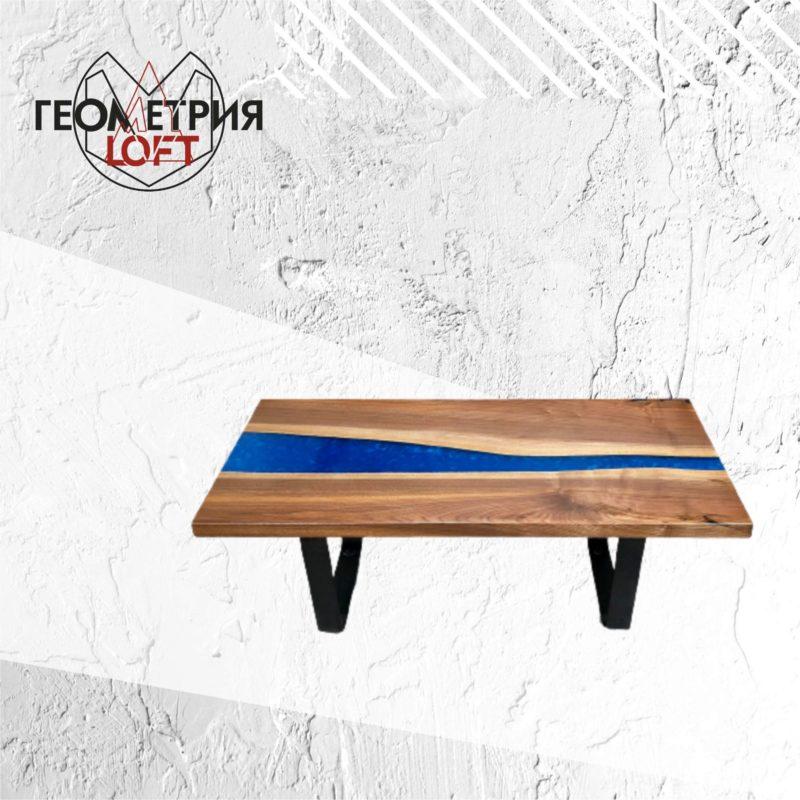 Стильный кофейный столик в стиле лофт