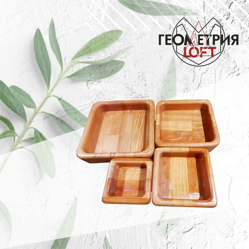 Тарелки-матрешки из натурального дерева. Артикул dp-18 2