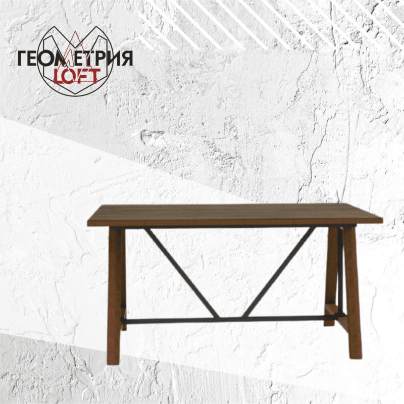 Стол на подстолье из дерева и металла. Артикул rw-10 1