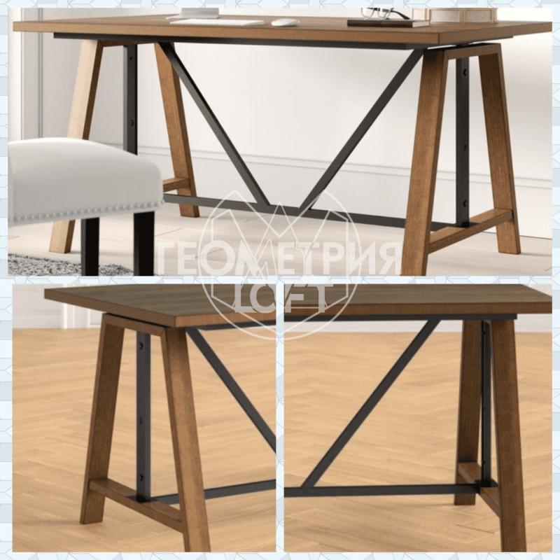 Стол на подстолье из дерева и металла. Артикул rw-10 2