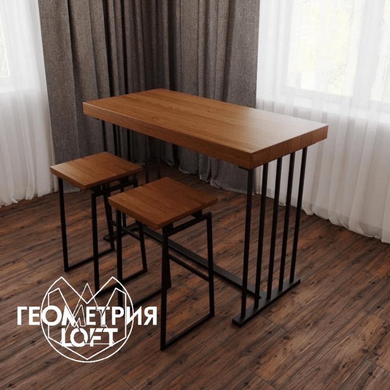 Барный стол лофт. Артикул bst-1 2