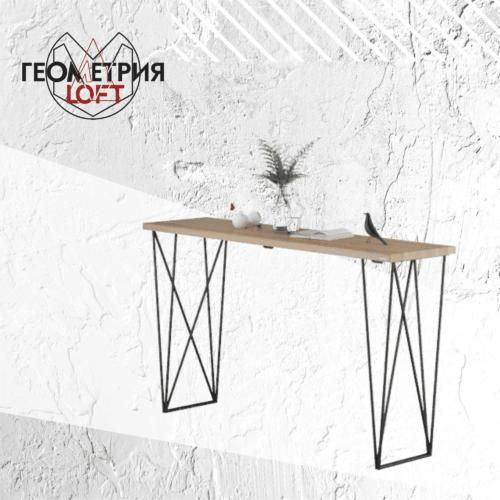 Барный стол в стиле лофт на металлическом каркасе