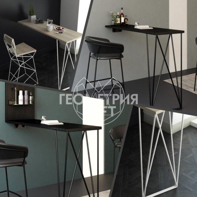 Барные столы в лофтовом стиле