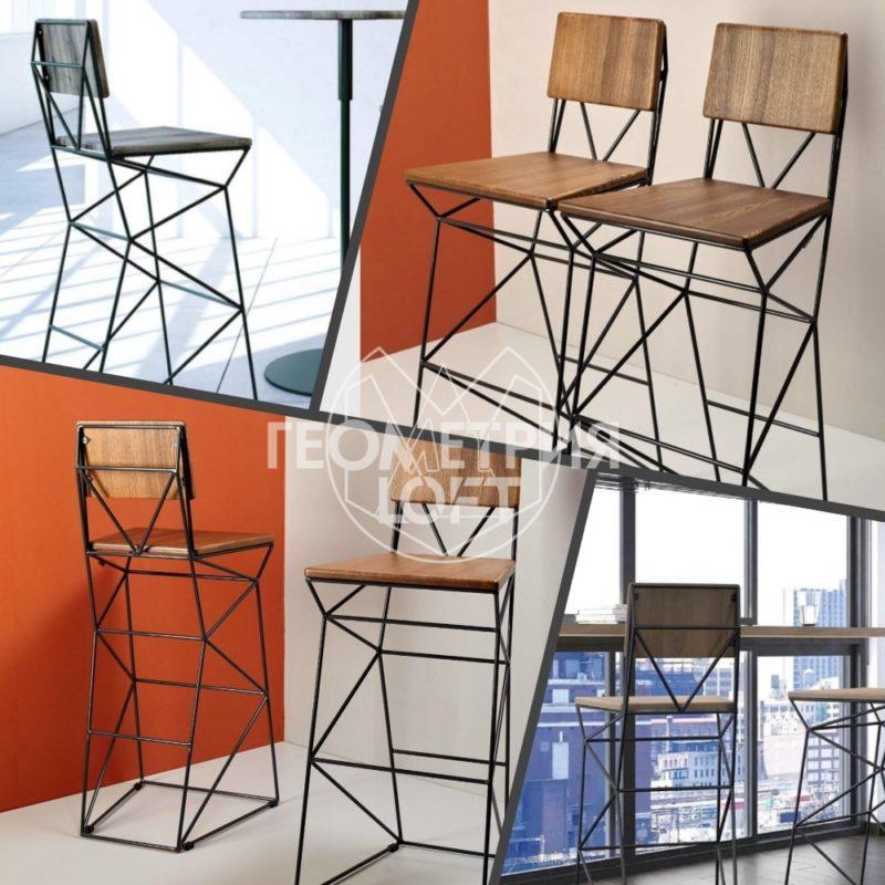 Барные стулья из металла