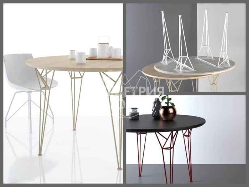 Круглый обеденный стол в стиле лофт