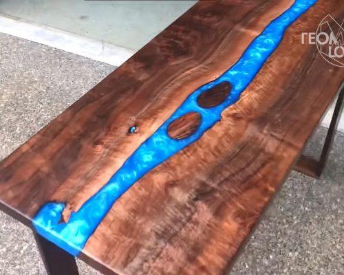 столы из смолы фото